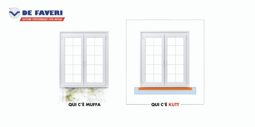 Nuovo Kit Muffa Universale Termo-davanzale Tecnico KUT di De Faveri