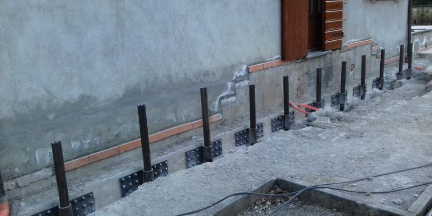 Consolidamento dei terreni di fondazione con iniezione di resine