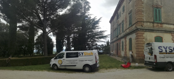 Consolidamento nodo terreno fondazione edificio storico in Toscana