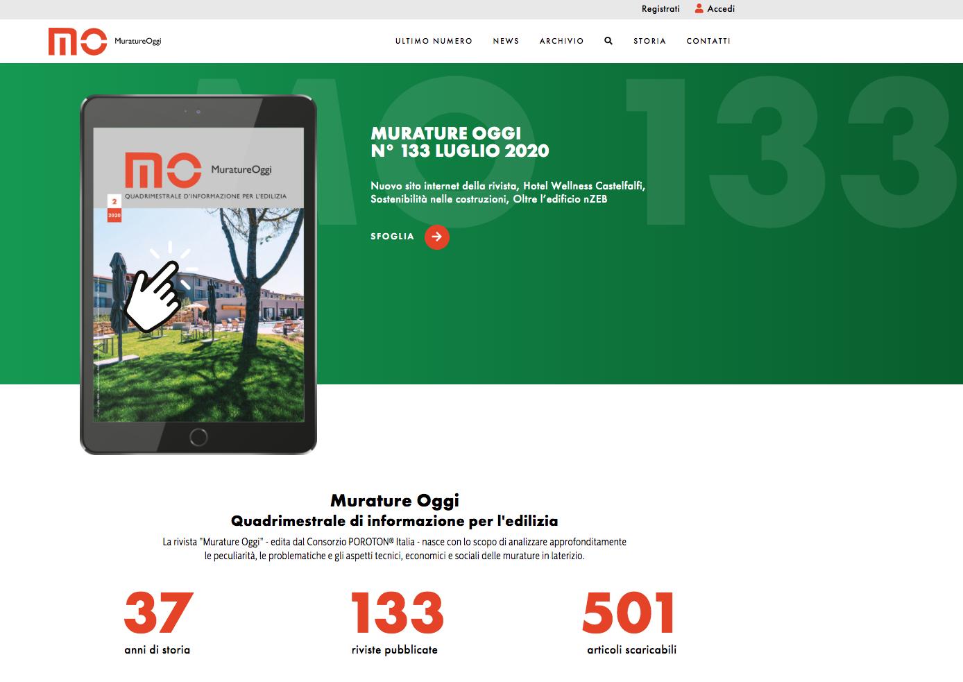 Murature Oggi: alla scoperta del nuovo sito web della Rivista